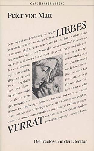 9783446156111: Liebesverrat: Die Treulosen in der Literatur