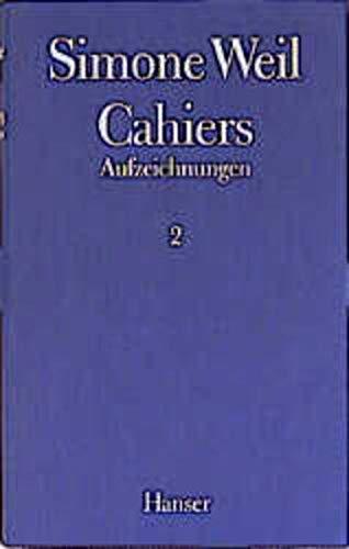 9783446157507: Cahiers. Aufzeichnungen 02