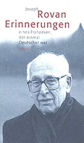 9783446199378: Joseph Rovan. Erinnerungen eines Franzosen, der einmal Deutscher war.