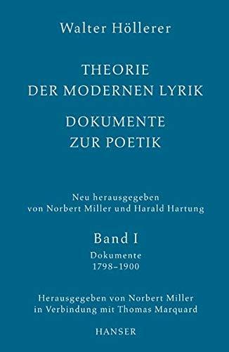 Theorie der modernen Lyrik. Dokumente zur Poetik: Walter Höllerer