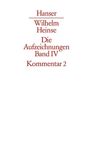 Kommentar zu Band 2. Register, Bibliographie: Wilhelm Heinse