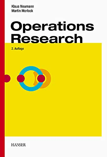 Operations Research. (3446221409) by Klaus Neumann; Martin Morlock