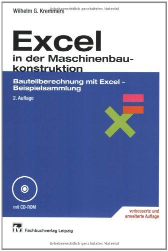 9783446225367: Excel in der Maschinenbaukonstruktion.