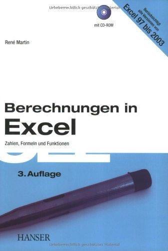 9783446225534: Berechnungen in Excel