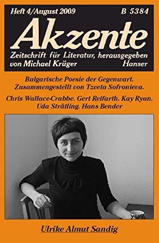 9783446234512: Akzente 4 / 2009: Ulrike Almut Sandig