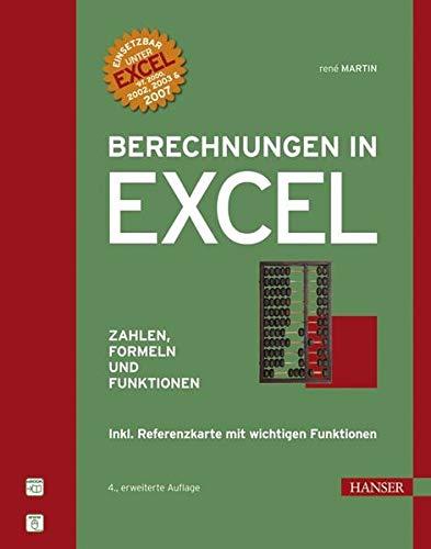 9783446410299: Berechnungen in Excel