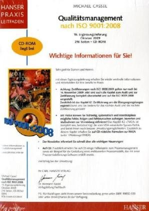 9783446420809: Qualitätsmanagement nach ISO 9001:2008