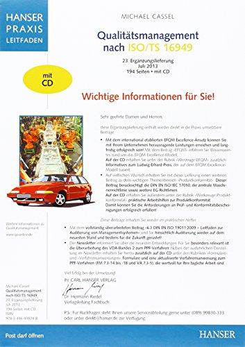9783446442016: Qualitätsmanagement nach ISO/TS 16949