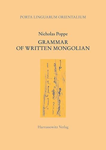 9783447006842: Grammar of Written Mongolian (Porta Linguarum Orientalium)