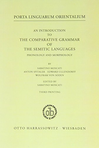 An Introduction to the Comparative Grammar of