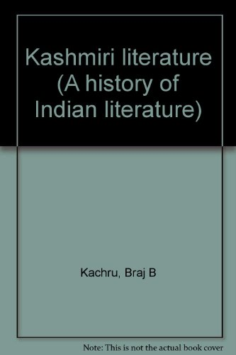 Kashmiri literature (A history of Indian literature): Braj B Kachru