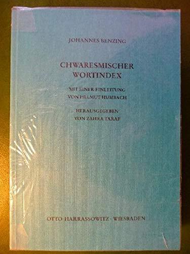 9783447023627: Chwaresmischer Wortindex (German Edition)