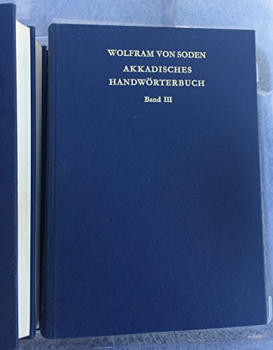 9783447026130: Akkadisches Handworterbuch: A-L (German Edition)