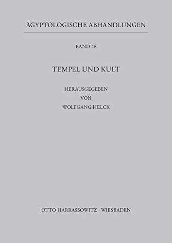 9783447026932: Tempel Und Kult (Agyptologische Abhandlungen) (German Edition)