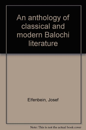 9783447030304: An Anthology of classical and modern Balochi literature