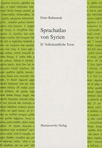 Sprachatlas von Syrien: Peter Behnstedt