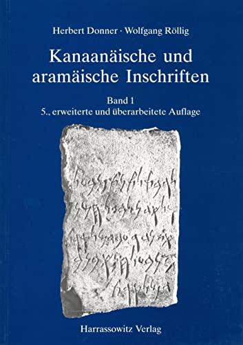 Kanaanaische Und Aramaische Inschriften: Donner, Herbert/ Rollig,