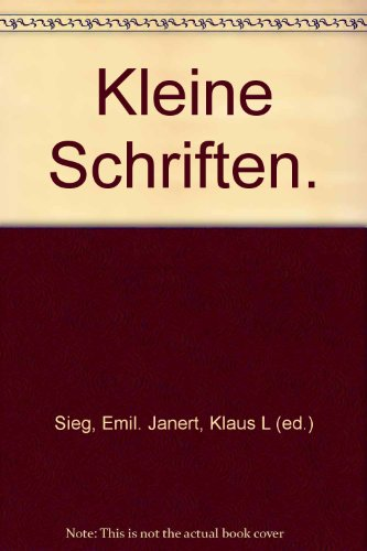 9783447048767: Kleine Schriften (Veroffentlichungen Der Glasenapp-stiftung)