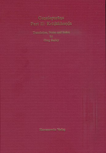 9783447054720: Ganesapurana: Kridakhanda. Translation, Notes and Index (Purana Research Publications, Tubingen)