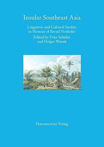 9783447054775: Insular Southeast Asia: Linguistic and Cultural Studies in Honour of Bernd Nothhofer