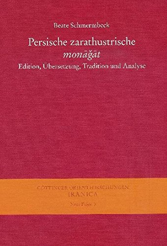 Persische zarathustrische monagat: Beate Schmermbeck