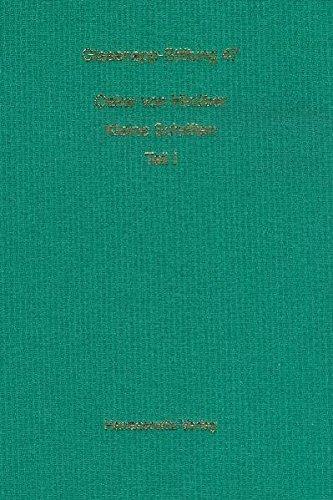 9783447058506: Kleine Schriften (Veroffentlichungen Der Helmuth Von Glasenapp-Stiftung)