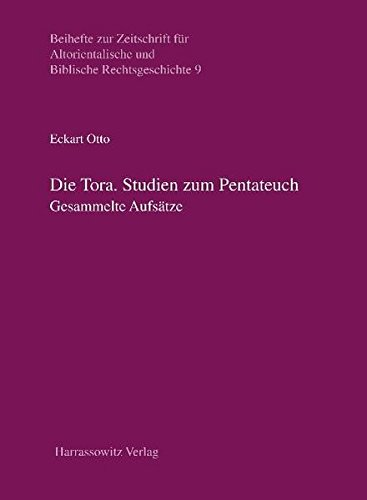 9783447059015: Die Tora: Studien zum Pentateuch - Gesammelte Aufsätze (Beihefte Zur Zeitschrift Fur Altorientalische Und Biblische Rechtsgeschichte)