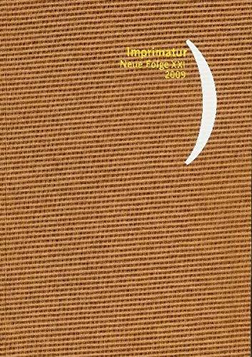 9783447059480: Imprimatur. Ein Jahrbuch Fur Bucherfreunde. Neue Folge: 2009 (German Edition)