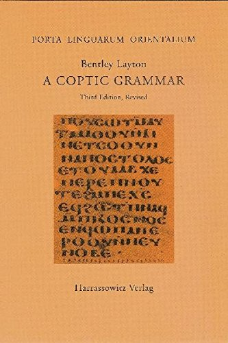 9783447062008: A Coptic Grammar: With Chrestomathy and Glossary. Sahidic Dialect (PORTA LINGUARUM ORIENTALIUM)
