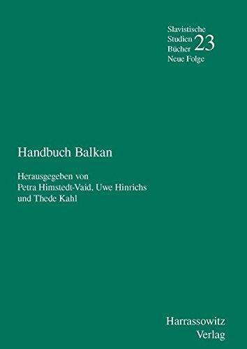 9783447067560: Handbuch Balkan (Slavistische Studienbücher. Neue Folge)