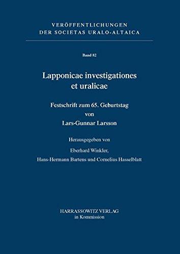 Lapponicae investigationes et uralicae. Festschrift zum 65.