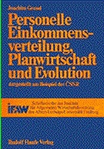 9783448012507: Personelle Einkommenverteilung, Planwirtschaft und Evolution