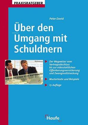 9783448036312: Über den Umgang mit Schuldnern.