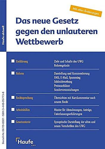 9783448057737: Die UWG-Reform.