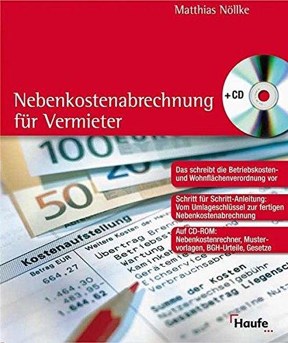 9783448065503: Nebenkostenabrechnung für Vermieter, m. CD-ROM