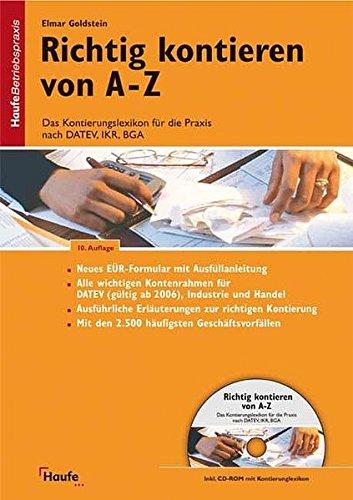 9783448072457: Richtig kontieren von A-Z, m. CD-ROM