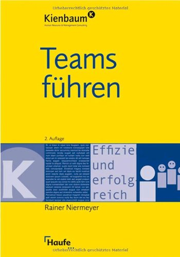 9783448090437: Teams f�hren