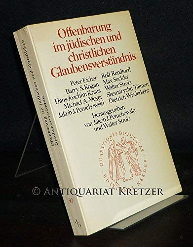 9783451020926: Offenbarung im jüdischen und christlichen Glaubensverständnis