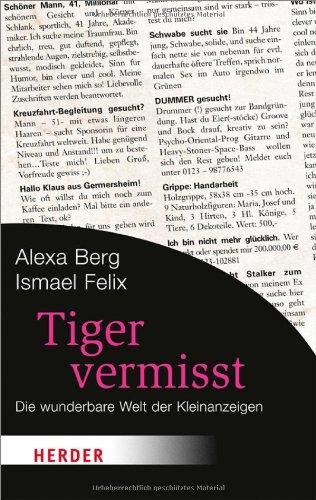 9783451061677: Tiger vermisst: Die wunderbare Welt der Kleinanzeigen