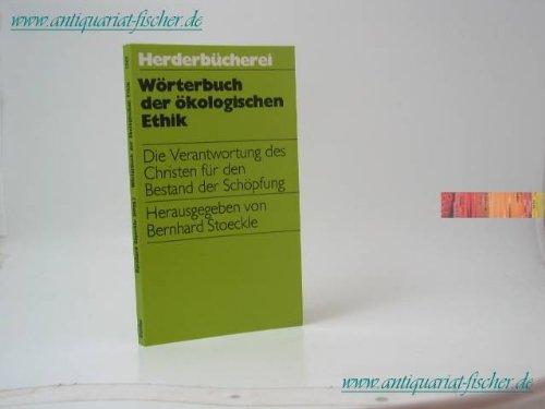 Wörterbuch der ökologischen Ethik