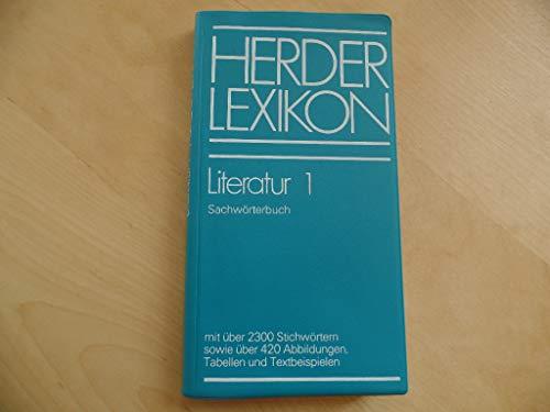 9783451164620: Herder Lexikon Literatur 1. Sachwörterbuch