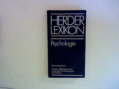 9783451164675: Herder-Lexikon: Psychologie : Sachworterbuch (German Edition)