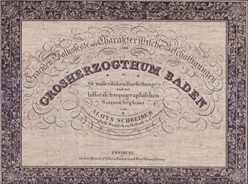 Badisches Volksleben: Schreiber Aloys
