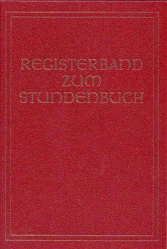 Registerband Zum Stundenbuch: Johannes Wagner Und