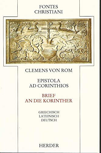 9783451221347: Fontes Christiani, 1. Folge, 21 Bde. in 38 Tl.-Bdn., Kt, Bd.15, Brief an die Korinther