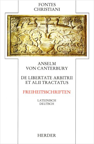 9783451222139: De Libertate Arbitrii et alii Tractatus. Freiheitsschriften
