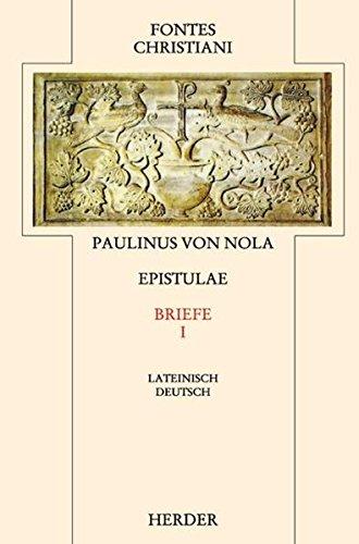 9783451239052: Epistulae 1 / Briefe 1: Erster Teilband
