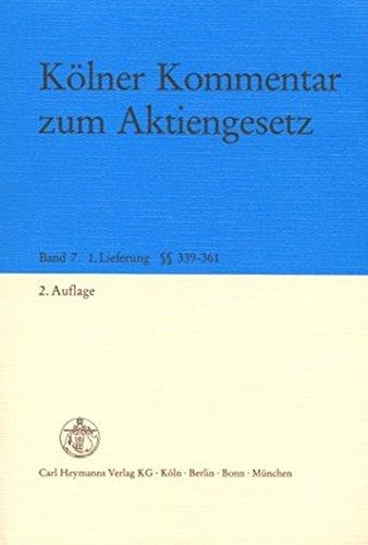 9783452204691: Kolner Kommentar zum Aktiengesetz [Unbound] by