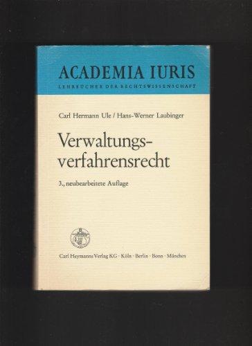 9783452206404: Verwaltungsverfahrensrecht. Ein Studienbuch
