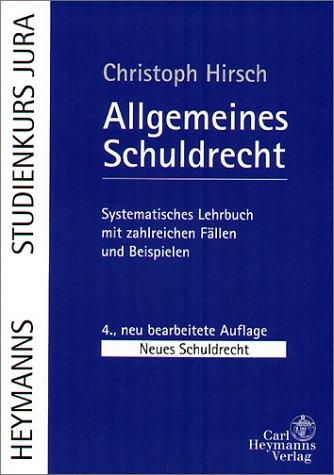 9783452249739: Allgemeines Schuldrecht (Livre en allemand)